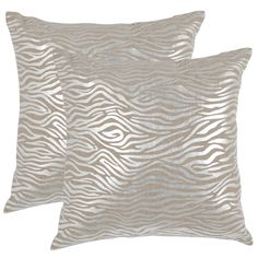 A favorite of trend-setting interior designers, the tiger pattern goes luxe in the exquisitely crafted Demi pillow.