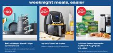 Bed Bath and Beyond Weeknight Meals Up to 20% OFF Air Fryers April 2021 Latest Bed, Green Mountain Coffee, Cookware Set, 20 Off, Bed & Bath, Weeknight Meals, Coupon, Snacks, Appetizers