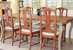 Varhaisrokokoo-tuolit ja -pöytä
