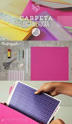 ¡Organízate con este archivero de cartulina! Te enseño a hacerlo FÁCIL en www.craftingeek.me