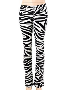 Moschino Jeans Jeans - Black and White Zebra Print Jeans. Our Price: $124.95