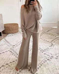 Two Piece Sets, Two Pieces, Hot Suit, Casual Suit, Casual Wear Women, Casual Fall, Plus Size Casual, Drawstring Pants, Color Khaki