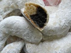 Hókifli (omlós) Biscotti, Cake Recipes, Panna Cotta, Delish, Cupcake, Deserts, Sweets, Cookies, Baking