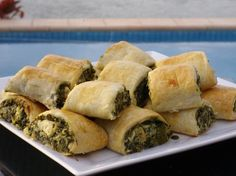 Feta and Spinach Rolls