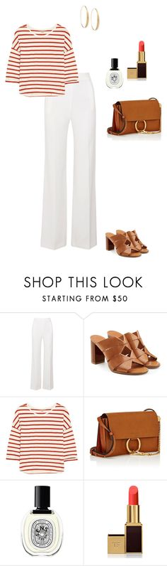 """""""Untitled #1654"""" by nujixo ❤ liked on Polyvore featuring Roland Mouret, Salvatore Ferragamo, Madewell, Chloé, Diptyque, Tom Ford and Lana"""