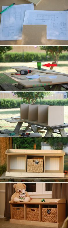 Awesome DIY Entry Bench