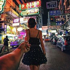 Girlfriend Leads Man Around the World in Breathtaking Pics    Murad Osmann and his girlfriend like to travel. And, when they do, they document their journeys in incredible style.    Rather than upload traditional touristy shots, Osmann uses his Instagram account to post photos of his girlfriend leading him, by the hand, through gorgeous landmarks across the world. Check them all out here http://imgur.com/a/HlXzY