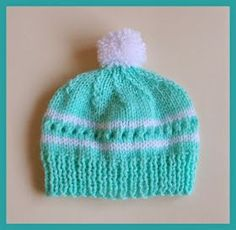 Free knitting pattern from marianna's lazy daisy days: Amanda Baby Hat. Baby Hat Knitting Pattern, Baby Hat Patterns, Baby Hats Knitting, Knitting Patterns Free, Free Knitting, Knitted Hats, Crochet Patterns, Free Pattern, Beanie Pattern