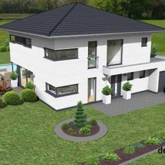 Home Decorating Concepts For Family Room Decoration - Home Decor Ideas Concept Architecture, Facade Architecture, Residential Architecture, Different Architectural Styles, Modern Office Design, Window Design, Types Of Houses, Construction, House Styles