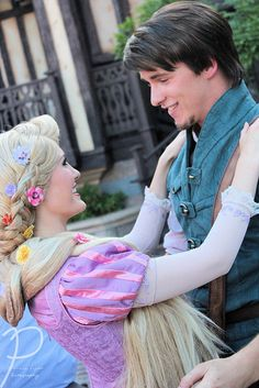 Eugene  Rapunzel :) I am SOOOOO disappointed that they aren't at Disney World anymore :( and just as I plan my trip there too.