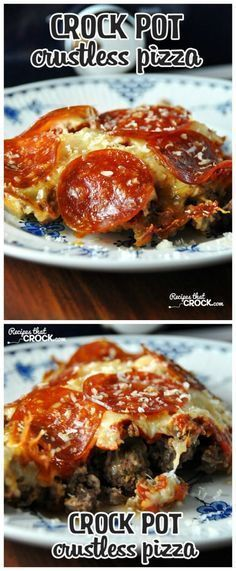 I'm really EXCITED about this Low-Carb Crock Pot Crustless Pizza from Recipes that Crock. This blogger used the Crock-Pot Casserole Crock Slow Cooker but she says you can use a 6-Quart oval slow cooker as well. This recipe was featured for Casserole Crock Saturdays on SlowCookerFromScr...; stop by every Saturday to get ideas for the Casserole Crock-Pot!