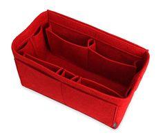 Pelikus Large Felt Purse Organizer - Tote & Handbag Shaper (Red)
