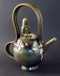 Mermaid teapot by Dick Heiser, NC.
