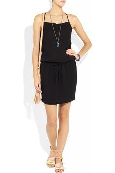 James Perse|Crepe mini dress|NET-A-PORTER.COM