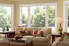 Double Hung Replacement Windows is part of Bright Living Room Windows - Our replacement double hung windows are come in a variety of colors, hardware options and grid patterns Also available in custom sizes to suit your home Casement Windows, Windows And Doors, Front Windows, Vinyl Windows, Bay Windows, Energy Star Windows, Craftsman Windows, Exterior Windows, Double Hung Windows