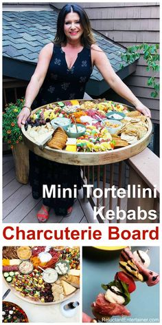 Mini Tortellini Kebabs Charcuterie Board is a large party appetizer! Makes 100 kebabs! Mini Tortellini Kebabs Charcuterie Board is a large party appetizer! Makes 100 kebabs! Plateau Charcuterie, Charcuterie And Cheese Board, Charcuterie Platter, Cheese Boards, Food Platters, Cheese Platters, Tortellini, Antipasto, Party Snacks