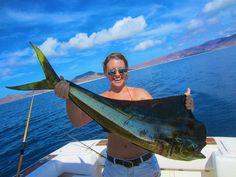 Dorado caught in the Sea of Cortez. La Paz, BCS, Mexico. #thesaltlife #Dorado