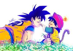 Goku is such a great daddy. Believe in his son, drawing out full potential in gohan. Respecting his decision to pursue scholar, just be there and support his son no matter what happen. Milk Y Goku, Goku And Gohan, Dbz Vegeta, Goku And Chichi, Dragon Z, Anime Art, Manga Anime, Pokemon, Father And Son