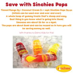 Make your own Smooze type ice-blocks or icy poles #pops #mango #coconutcream #dairyfree #sinchies #reusablepouches #reusablefoodpouch #squeezypouch #dessert #kids #children #toddlers #reusable #recyclable #sustainable #healthy #additivefree #preservativefree #nonumbers #nocolors #homemade #bpafree #nowaste #nudefood