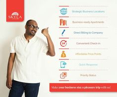 You may have a ton of challenges as a corporate traveller, and we thrive in turning every challenge into your advantage.  Visit www.skylaservicedapartments.com to know more!