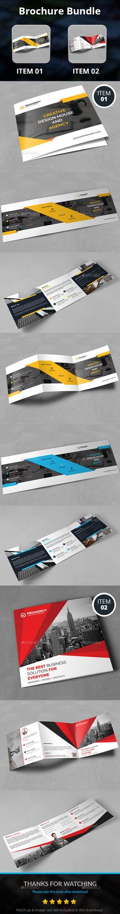 Square Brochure Bundle — Photoshop PSD #bifold brochure #trifold • Download ➝ https://graphicriver.net/item/square-brochure-bundle/19160922?ref=pxcr