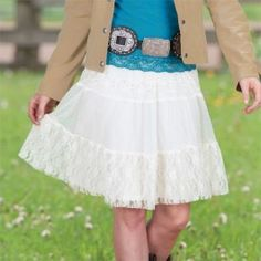 Ladies' Layers & Lace Skirt