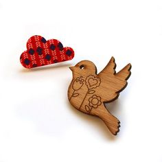 Image of Fly with Me Brooch Duo - Folksy $25