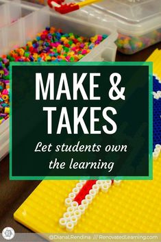 Make & Takes: Let Students Own the Learning | Many makerspaces tend to emphasize tech and tools that have to stay at the school. It's important to balance that out with activities that students can take home as well. Arts & crafts, cardboard challenge a