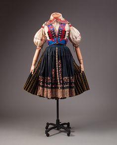 Ensemble, late 19th–early 20th century  Slovakian  Cotton, silk, wool