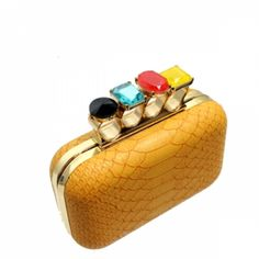 Gem Stone Knuckle Clutch Purse at the Shopping Mall, $53.09 (USD)