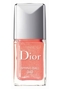 What a Peach  The Shade: This vivid peachy pink has just enough shimmer to make it feel sexy without crossing into teen pop territory.  Perfect For: Spring concerts  Dior Vernis in Spring Ball, $24, dior.com.  Read more: Spring 2013 Pastel Nail Polish - Best Pastel Nail Polish for Spring 2013 - Harper's BAZAAR