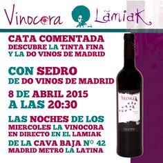 ¿Sabías que en Madrid están posiblemente las referencias más antiguas al vino en Europa, de hace unos 2200 años? #vino #madrid. Descubre esto y mucho más con Sedro DO Vinos de Madrid en el Lamiak de La Cava Baja.   GRATIS Una copa de vino durante la cata Las siguientes a 1€ hasta las 23:00 ese mismo día, para repasar y fijar conocimientos.    LAS NOCHES DE LOS  MIERCOLES LA VINOCORA  EN DIRECTO EN EL LAMIAK  DE LA CAVA BAJA Nº 42  MADRID METRO LA LATINA