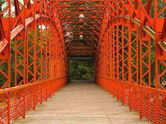 Sechserbrücke - Sixpence Bridge    Harbour Bridge in Tegel, Berlin, Germany.