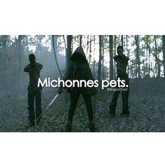 Michonne's Pets, The Walking Dead