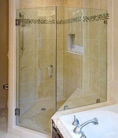 find this pin and more on bathrooms this glass shower door