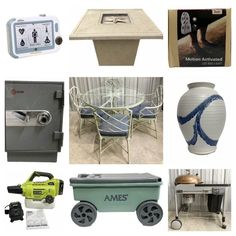 Vintage Patio Furniture, Online Estate Sales, Jewelry Chest, Fire Pit Table, Antique Cabinets, Houston, Jewelry Armoire