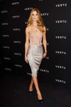Attending the Vertu Global Launch Of The 'Constellation' in Milan in 2011. See all of Rosie Huntington-Whiteley's best looks.