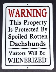 Trespassers beware!