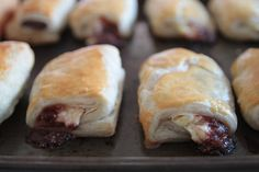 Puff Pastry Croissants (no yeast!) – Jam and Cream Cheese Filled Cream Cheese and Jam Croissants Full recipe