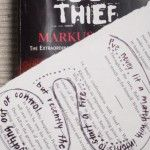 Teaching: The Book Thief by Marcus Zusak I like the idea of having students re-purpose the page of a book.