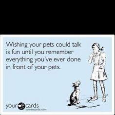 haha yeah only if my cat could talk...think he would sound like stewy from family guy