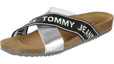 Tommy Jeans Flat Cork W Sandalen silber im WeAre Shop ae6c4106e9