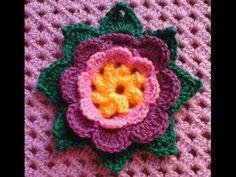 Aprende a Tejer una Flor Crochet / Tutorial en video ~ Patrones para Crochet