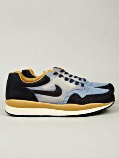 Nike Men's Air Safari Vintage Sneaker in blue / yellow at oki-ni