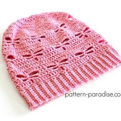 Free Crochet Pattern: Dragonfly Slouchy Hat