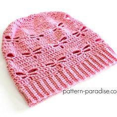 Free Crochet Pattern: Dragonfly Slouchy Hat