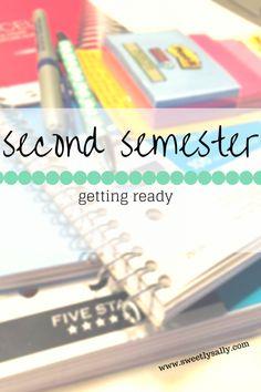 Preparing for second semester of college