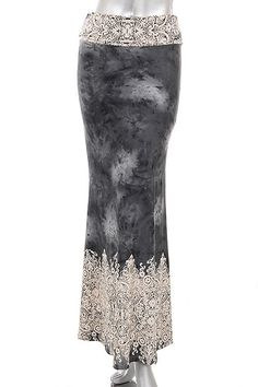 Beautiful filigree tie dye maxi skirts are here! Available in Grey and Coal #skirt #maxi #gypsyoutfitters