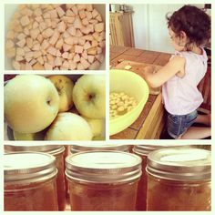 Canning Applesauce with little ones. Best memories of cooking.