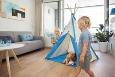 BS Tipi tent - Foto 4 Color Azul, Decoration, Toddler Bed, Shops, Kids Rugs, Tipi Tent, Outdoor, Furniture, Home Decor